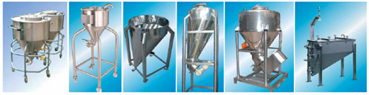 Ystral vessels for powdery or liquid basic components